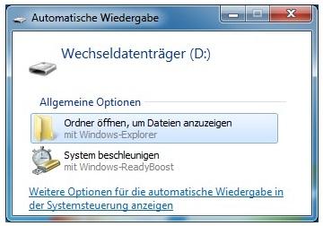 USB-Stick öffnen